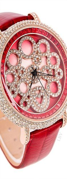 Billionaire Club / karen cox. The Glamorous Life.  .Luxury dark pink color wrist watch | LBV S14 ♥✤