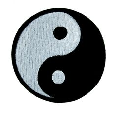 - Yin Yang Symbol Applique Iron On Patch - 100% Cotton - Well made, greatly embroidered and neatly stitched. - Just iron on any fabric you like - Turn your ordinary clothes or bags into something that