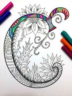 8.5 x 11 » PDF coloriage de la lettre majuscule « C » - inspiré par la police d'écriture « Harrington » Plaisir pour tous les âges. Soulager le stress, ou tout simplement se détendre et s'amuser à l'aide de vos crayons de couleurs préférées, stylos, aquarelles, peinture, pastels ou crayons de couleur. Impression sur du papier cartonné ou autre papier épais (recommandé). Art original par Devyn Brewer (DJPenscript). Pour un usage personnel seulement. S'il vous plaît ne pas reproduire ou ve...