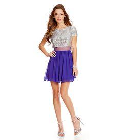 B Darlin Sequin To Mesh Faux TwoPiece Dress #Dillards