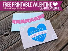 Free Valentine's Day Card & Envelope