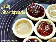 Jelly Shortbreads Recipe! - I've made these, and they're DELISH! I have some of the shortbread frozen so I can pull them out next time I want them! ~ed