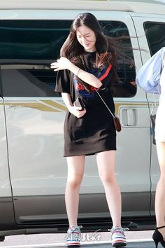 Fashion Tag, Kpop Fashion, Daily Fashion, Korean Fashion, Girl Fashion, Fashion Dresses, Womens Fashion, Airport Fashion, Kpop Outfits