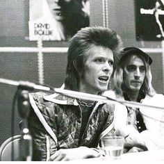 Ziggy and The Spider - Press conference, NYC, 11-12-1972