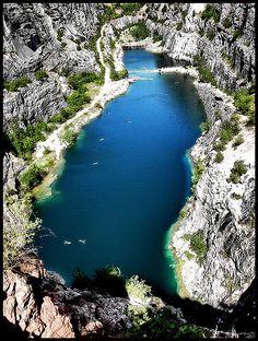 Velka Amerika (Big America, Czech Grand Canyon) in the Central Bohemian region of the Czech Republic.  by Edgar Barany