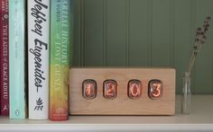 A cool bedside clock- with a retro look the Nixie Epoch is a classy clock that visibly shows the time.