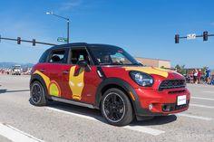Highlands Ranch Community Association's Fourth of July Parade | Custom MINI Cooper | MINI Art Cars | MINI Mods | Miniac | Iron Man | Iron Man MINI | Art Cars | Custom Cars | Cars | Denver | The Mile High City | Colorado | Schomp MINI | Highlands Ranch | an original @Schomp MINI pin
