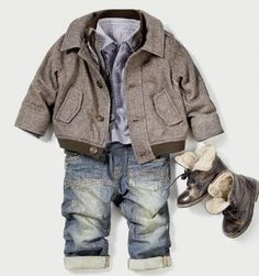 If i ever have i son i want to dress him up in outfits like this /Cute baby cloth | http://cute-baby-lindsay.blogspot.com