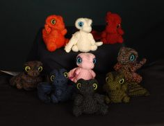 Each Dragon is made to order. They vary from 3 to 5 tall and 2.5 to 3.5 wide.   $30 each
