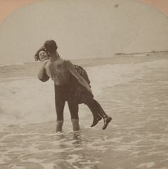 (animated stereo) Say that again, and I'll dip you in. (1897) by Thiophene_Guy, via Flickr