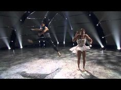 """Top 8 contestant Cole Horibe (R) and all-star dancer Allison Holker (L) perform a Contemporary routine to """"Possibly Maybe"""" choreographed by Sonya Tayeh on SO YOU THINK YOU CAN DANCE."""