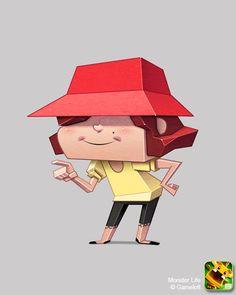 Monster Life - Random Encounter - Girl by joslin on DeviantArt Simple Character, Character Sheet, 3d Character, Character Concept, Concept Art, Character Design, Iconic Characters, Cute Characters, Cartoon Characters