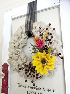 Burlap Bubble Wreath : Decorating : Home & Garden Television