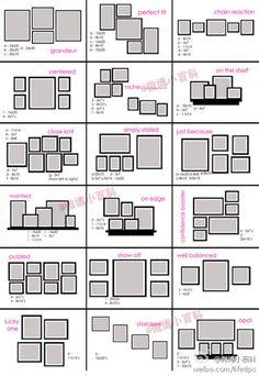 Different ways to arrange photos