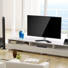 FITUEYES Universal TV Stand /Base Swivel Tabletop TV Stand with mount for 32 65 inch Flat screen Tvs/xbox One/tv Component /Vizio Tv TT106001GB * Want additional info? Click on the image. (This is an affiliate link)