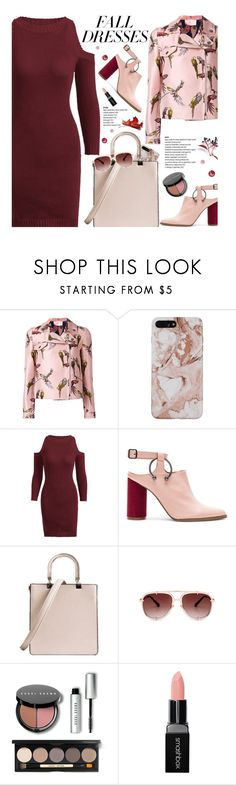 """Fall Fashion: Dresses"" by beebeely-look ❤ liked on Polyvore featuring Giamba, Jaggar, Bobbi Brown Cosmetics, Smashbox, StreetStyle, NYFW, streetwear, falldresses and zaful"