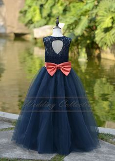 524659d6521 Custom Order. Coral Flower Girl DressesNavy Blue ...
