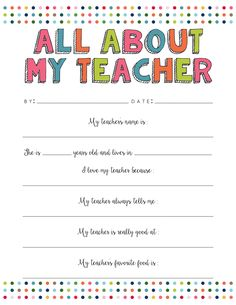 A Thank You Letter For Teachers Free Printable  Mom The OJays