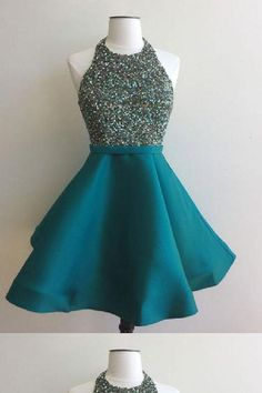 Prom Dresses For Teens, homecoming dresses,sequin short green prom dress, homecoming dress, Short prom dresses and high-low prom dresses are a flirty and fun prom dress option. Green Homecoming Dresses, Hoco Dresses, Prom Party Dresses, Dance Dresses, Pretty Dresses, Beautiful Dresses, Evening Dresses, Dress Prom, Prom Gowns