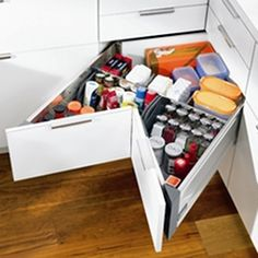 Storage ideas for small spaces bedroom designs: Storage ideas for . Storage ideas for small spaces 10 Home Organization and Storage Id. Corner Drawers, Corner Cupboard, Corner Storage, Corner Cabinets, Kitchen Cabinets, Kitchen Corner Units, Kitchen Pantries, Organized Kitchen, Kitchen Drawers
