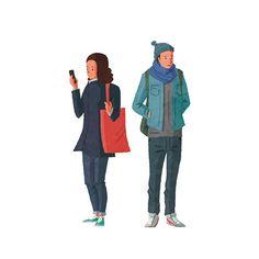 人々 People illustration | Takahiro Suganuma Illustration #illustration #people #illustrator #イラストレーション #イラストレーター #イラスト