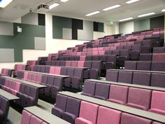 Diploma lecture theatre seating by Evertaut at Manchester University