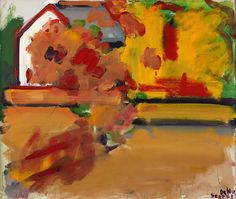 Robert De Niro Sr., Autumn Landscape with House 1968 Oil on canvas, 30 x 36 inches