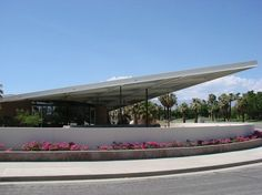 Once a gas station, our beautiful Visitors Center sits at the bed of the PS Aerial Tramway! Information Center, Tourist Information, Palm Springs Mid Century Modern, Ps I Love You, City North, Googie, The Visitors, Mid Century Style, Gas Station