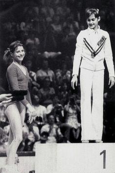Nadia Comaneci and Olga Korbut,1976 Montreal Olympic Games Photo credit: ©…