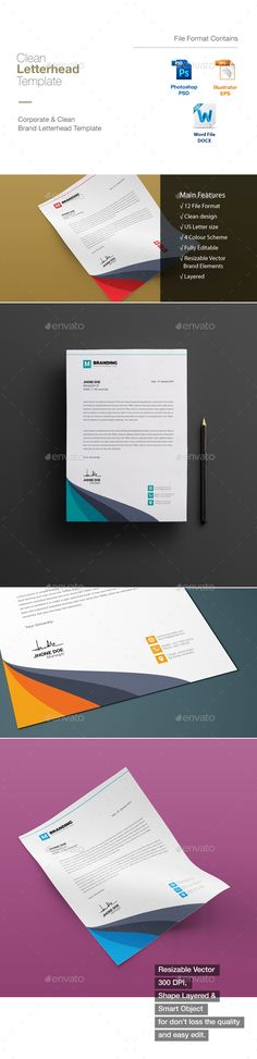 Letterhead template psd vector eps ms word letterhead design letterhead template psd vector eps ms word letterhead design templates pinterest letterhead template template and stationery printing spiritdancerdesigns
