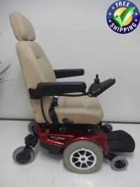This is a Jazzy 1122 Power chair that has Active Track Suspension. The unit comes with a seat. This seat is very rare because it is a manual full reclining seat. This Jazzy 1122 goes MPH which makes this unit great for active users. Powered Wheelchair, Types Of Flooring, Outdoor Power Equipment, Pride, Chairs, Range, The Unit, Cookers, Stool