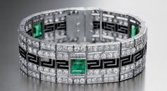Bvlgari | From the Origins to the 40's Emerald diamond bracelet