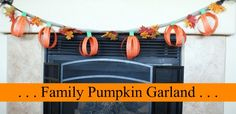 This is such a fun idea for a family activity! Each member gets some orange strips of paper and writes 1 thing they love about each person in their family. Then you make the strips into pumpkins and make a garland. Everyone feels special all Fall! Insturctions on SomewhatSimple.com #fall #halloween