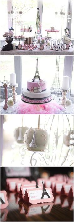 Love all the mini Eiffel Towers at this Parisian themed baby shower! <3 #paris