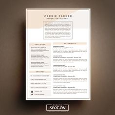Spotlighting you to the best Candidate! with Unique+Credibility design Resume/CV template. Easy to editable in MS word. Digital Download that Worth investment for your best opportunity! #SpotONresume #cvtemplate #resumetemplate