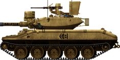 The Sheridan was an American cold war airborne tank designed to fire antitank missile to compensate its lack of protection, used in Vietnam and the gulf Sheridan Tank, Shaped Charge, Self Propelled Artillery, Tank Armor, Military Units, Afghanistan War, Armored Fighting Vehicle, World Of Tanks, Battle Tank
