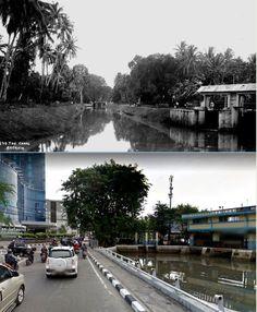 Canal te Batavia, circa 1910, ,.,  jl Mangga Besar Raya - jl Kartini, Jakarta 2015