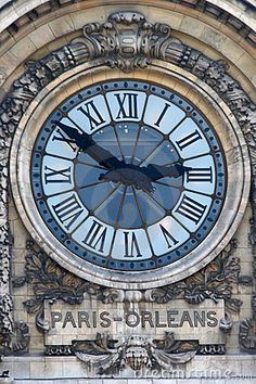 Photo about The Paris-Orleans Station clock, Paris France. Image of orleans, clock, paris - 8076408 Old Clocks, Antique Clocks, Merci Paris, Unusual Clocks, Father Time, Time Stood Still, As Time Goes By, My Home Design, Belle Villa