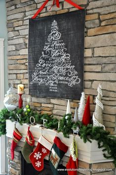 How do you decorate a large wall without painting? This roundup of DIY wall decor ideas for large walls has 60 ideas for large wall decor you can make yourself, on a budget, including using engineer prints for DIY wall decor. All Things Christmas, Christmas Home, Christmas Holidays, Christmas Crafts, Christmas Decorations, Christmas Ideas, Fireplace Decorations, Christmas Villages, Silver Christmas