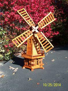 Wonderful Handmade Wooden Dutch Windmill By Mustachemanwoods On Etsy