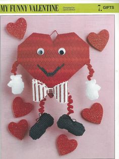 My Funny Valentine Plastic Canvas Pattern by needlecraftsupershop, $4.50
