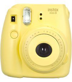 Fujifilm Instax Mini 8 Instant Camera, Yellow My LOVE  BUT I WANT A LIGHT BLUE ONE