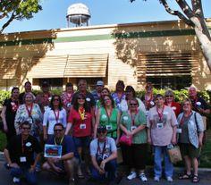 2013 PNW Mouse Treks Walt Disney Studios Tour - Group pic - water tower