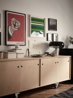Gravity Home — Scandinavian apartment Eclectic Furniture, Furniture Design, Plywood Interior, Retro Sideboard, Interior Architecture, Interior Design, Gravity Home, Home Living Room, Decoration