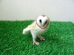 Barn owl by HandmadeByNovember on Etsy, $22.00