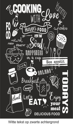 Krijtbord sticker – – Rebel Without Applause Chalkboard Art Kitchen, Chalkboard Art Quotes, Blackboard Art, Chalkboard Lettering, Chalkboard Designs, Cafe Interior Design, Cafe Design, Kitchen Posters, Chalk Wall
