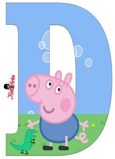 SGBlogosfera. María José Argüeso: ABECEDARIO GEORGE PIG Peppa E George, George Pig Party, Fiestas Peppa Pig, Cumple Peppa Pig, Aniversario Peppa Pig, Diy Birthday Banner, Birthday Invitations, Peppa Pig Family, Pig Character