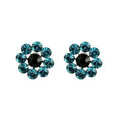 TARINA TARANTINO Large Crystal Flower Post Earrings ($48) ❤ liked on Polyvore