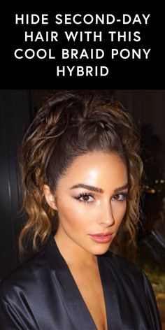 Hide second-day hair the It-girl way - Olivia Culpo's take on a ponytail will have your hair looking fresh and stylish.