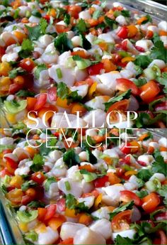 Ultimate scallop ceviche recipe. A Salvadorian style ceviche recipe made with wild caught baby scallops, heirloom tomatoes and limes. No cook recipe!